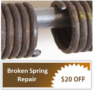 Broken garage door spring Rockford